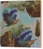 Flying Islands Wood Print