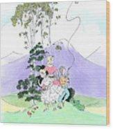Flying Kites Wood Print