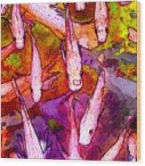 Flying Koi Wood Print
