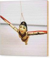 Flying Lady Wood Print