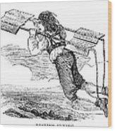 Flying Machine, 1678 Wood Print