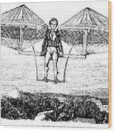 Flying Machine, 1807 Wood Print