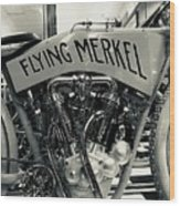 Flying Merkel Wood Print