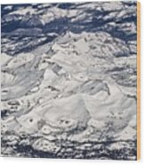 Flying Over Colorado Rocky Mountains Wood Print