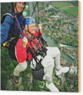Flying Over Interlaken Wood Print