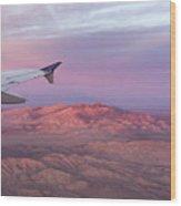 Flying Over The Mojave Desert At Sunrise Wood Print