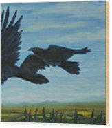 Flying Over The Tanana Flats Wood Print by Amy Reisland-Speer