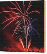 Flying Prom Fireworks Wood Print