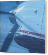 Flying Prop Wood Print