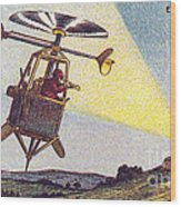 Flying Sentinel, 1900s French Postcard Wood Print
