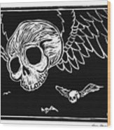 Flying Skulls Wood Print