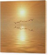 Flying South Wood Print