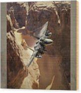 Flying Tenniscourt Wood Print