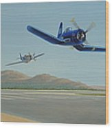 Flying The Air Show Circuit Wood Print
