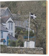 Flying The Flag For Cornwall Wood Print