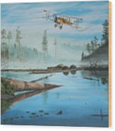 Flying The Mail Wood Print