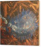 Flying Through Fire Wood Print