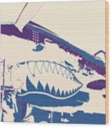 Flying Tiger Blue Purple  Wood Print