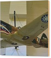 Flying Tigers Aircraft Wood Print