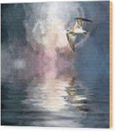 Flying Towards The Light Wood Print