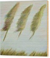Flying Trees Wood Print
