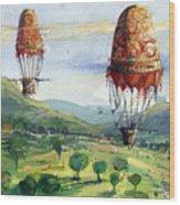 Flyingballons Wood Print