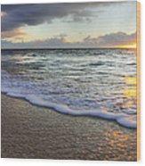 Foam Sunset Wood Print
