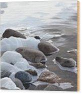 Foamy Rocks Wood Print