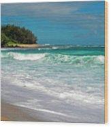 Foamy Surf Wood Print