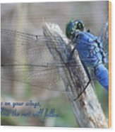 Focus On Your Wings Wood Print
