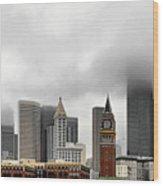 Fog Accents Of Seattle Wa Wood Print
