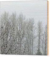 Fog And Light Snow Wood Print