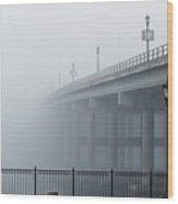 Fog At Granada Bridge Wood Print