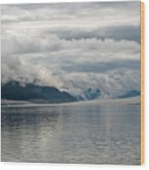 Fog Bank In Gastineau Channel Wood Print
