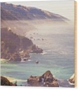 Fog Big Sur Wood Print