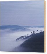 Fog Blankets The Rift Valley Wood Print