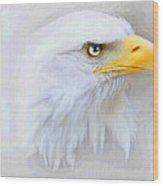 Fog Eagle Wood Print