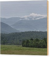 Fog Forming In The Mountains Wood Print