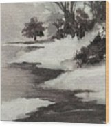 Early Morning Fog Wood Print