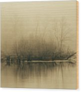 Fog Hovers Above The James River Wood Print