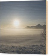 Fog In Lofoten 1 Wood Print