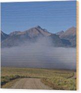 Fog In The Fast Lane Wood Print