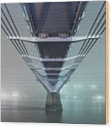 Fog - Millennium Bridge Wood Print