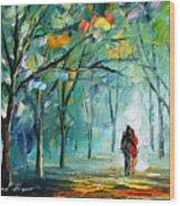 Fog Of Love Wood Print
