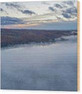 Fog On Goose Lake Wood Print