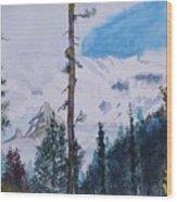 Fog On Mt. Rainer Wood Print
