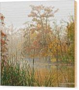Fog On The Bayou Wood Print