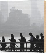 Fog On The Hudson Wood Print
