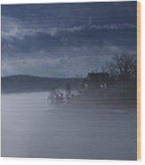 Fog On The Lake - Dawn At The Lake Of The Ozarks, Missouri Wood Print