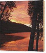 Fog On The Water Wood Print